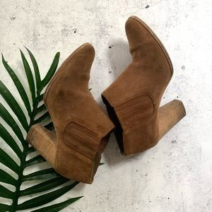 MICHEAL KORS▪️Suede Ankle Bootie/ Cognac/ 6.5